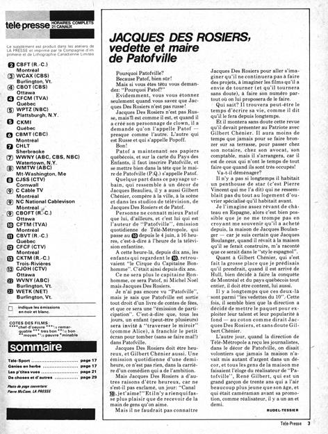 Télé-Presse, semaine du 9 au 13 juin 1973