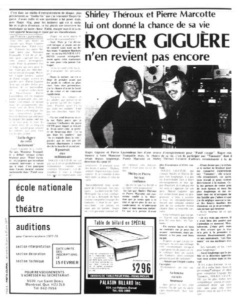 Photo-Journal, 15 janvier 1977
