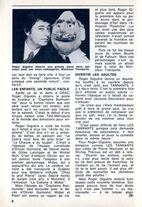 TV-Hebdo, 12 mars 1977