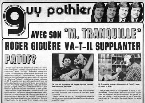 Vedettes québécoises, 26 mars 1977