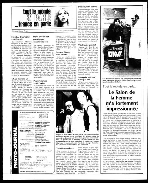 Photo-Journal, 7 mai 1977