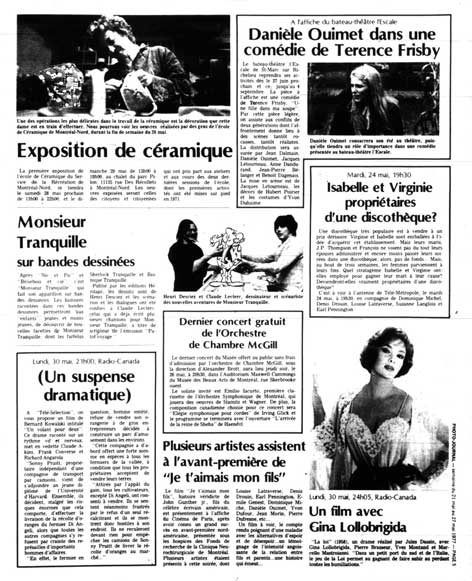 Photo-Journal, 21 mai 1977