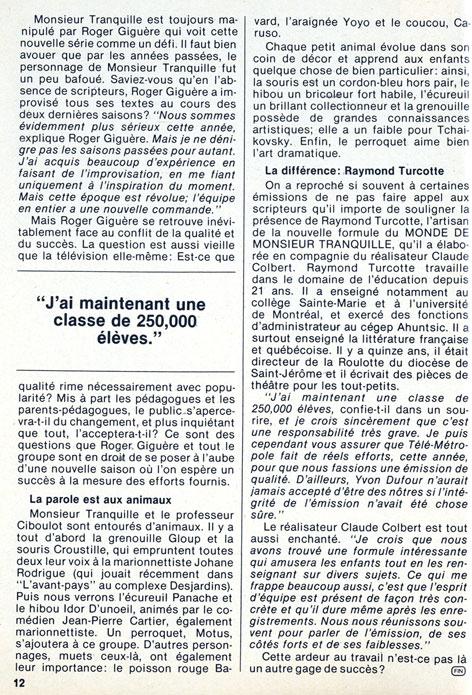TV-Hebdo, 16 septembre 1978