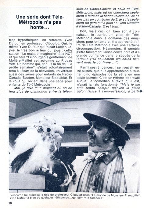 TV-Hebdo, 30 septembre 1978