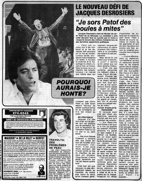 Écho-Vedettes, 13 juin 1982