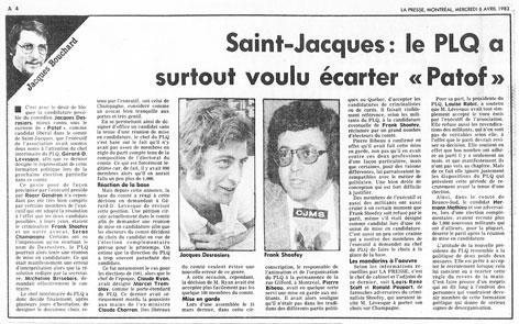 La Presse, 6 avril 1983