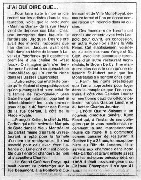 La Presse, 27 août 1983