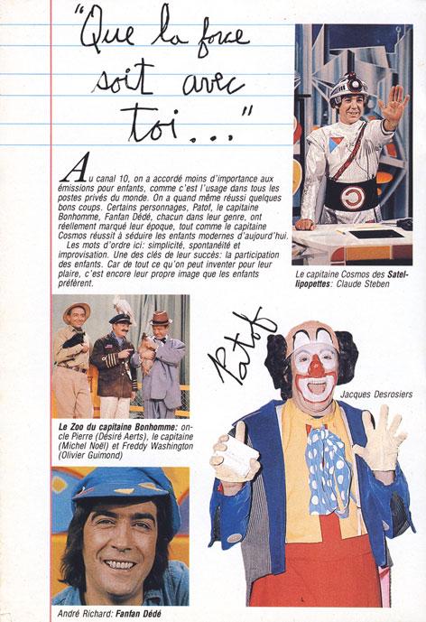 TV-Hebdo, 17 novembre 1985