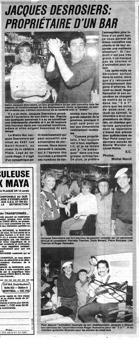 Écho-Vedettes, 10 février 1985