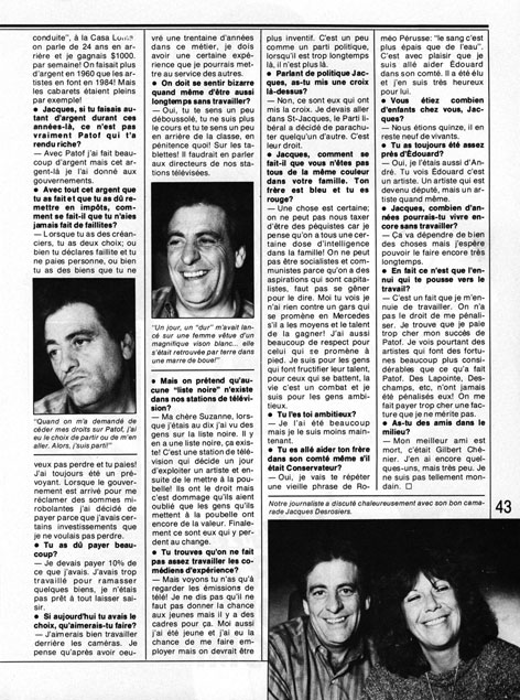 Le Lundi, 19 octobre 1985