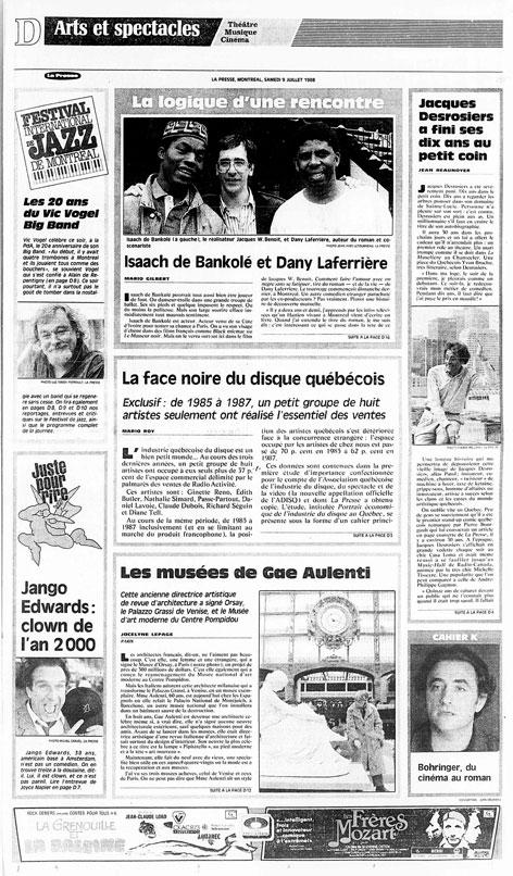 La Presse, 9 juillet 1988